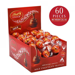 $12.59 Lindt LINDOR White Chocolate Truffles 60 ct @ Amazon.com