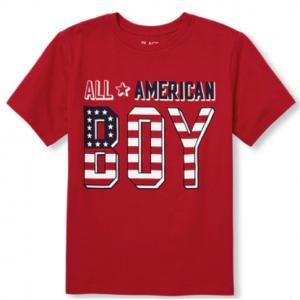 69c275c91 Boys Matching Family Americana Short Sleeve 'All American' Graphic Tee