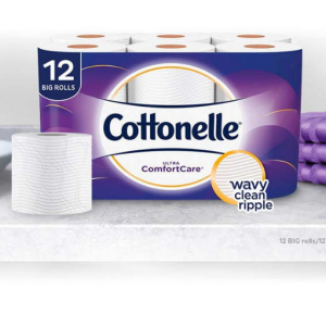 Cottonelle Ultra ComfortCare Toilet Paper, Soft Bath Tissue, Septic-Safe, 12 Big Rolls @Amazon