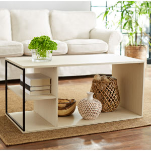 Mainstays Kalla Wood and Metal Coffee Table, MS Birch @ Walmart