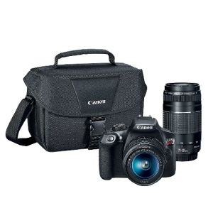 $350 OFF Canon DSLR EOS T6 2Lens Kit Bundle (18-55mm IS Lens, 75-300mm Zoom Lens) @Target