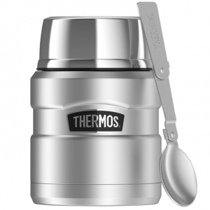 Thermos Stainless King 16 Ounce Food Jar with Folding Spoon, Stainless Steel @ Amazon