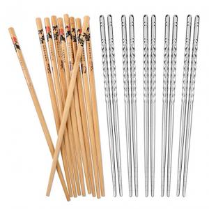 Hiware 10 Pairs Reusable Chopsticks Set @ Amazon