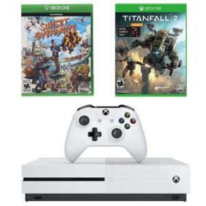 Microsoft Xbox One S 1TB 泰坦天降2 + 日落過載套裝 @ MassGenie