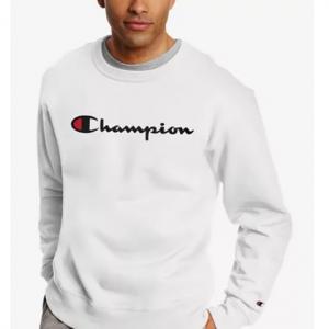 Champion Men's Powerblend Fleece Logo Sweatshirt @ Macy's