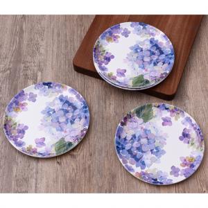 Better Homes & Gardens Hydrangea Purple Melamine Salad Plate, Set of 4 @ Walmart