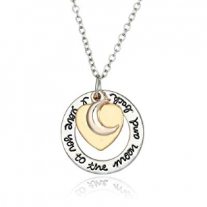 One Day Only!Luvalti I Love You to The Moon and Back Heart Pendant Necklace - Family & Friends Jewel
