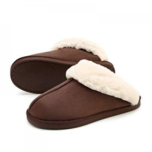 WATMAID Womens/Mens Cotton House Slippers now 58.0% off , Bootie Slippers Memory Foam Fleece Lining