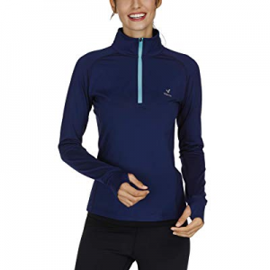 One Day Only!45.0% off Women's Yoga Jacket 1/2 Zip Pullover Thermal Fleece Athletic Long Sleeve Runn