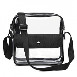 One Day Only!Clear Bag NFL Stadium Approved Crossbady Shoulder Bag Transparent Purse with Adjustable