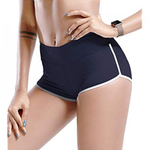 One Day Only!TYUIO Gym Shorts Women Yoga Workout Active Running Short Pant Dolphin Shorts now 40.0%