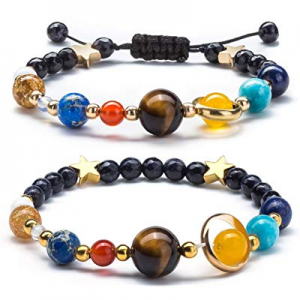 One Day Only!50.0% off Fesciory Women Solar System Bracelet Universe Galaxy The Eight Planets Guardi