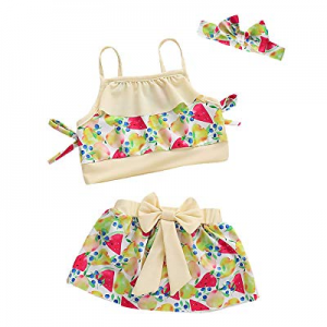 One Day Only!Minseng Direct Fruit Outfit Set Little Girls Swimsuit now 45.0% off
