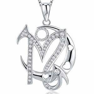 Christmas Day Gifts Moon Horoscope Signs of Zodiac Pendant Necklace with Cubic Zirconia now 40.0% of