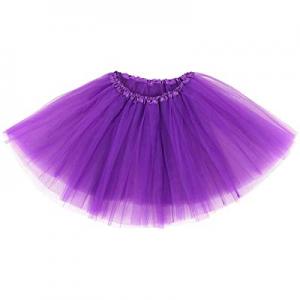 WYR Adult Women's Classic 3-Layered Tulle Tutu Ballet Skirts Ruffle Pettiskirt,Teen,Girls now 60.0%