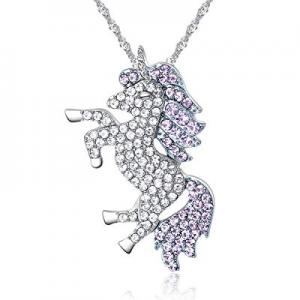 One Day Only!80.0% off U Angela Unicorn Crystal Rainbow Necklace Unicorn Pendant Ladies Fashion Neck