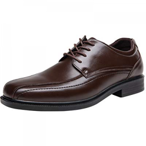 One Day Only!JOUSEN Men's Dress Shoes Leather Formal Shoes Square Toe Oxford now 40.0% off