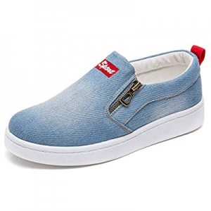 One Day Only!17.0% off XIANV Women Denim Jeans Sneaker Classic Low Top Round Toe Casual Shoes Fashio