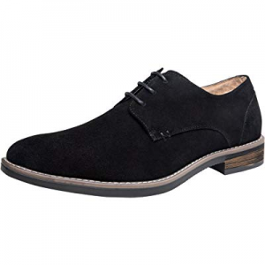 One Day Only!JOUSEN Men's Oxford Suede Dress Shoes Leather Derby Shoes now 40.0% off