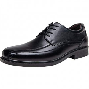 One Day Only!JOUSEN Men's Dress Shoes Leather Formal Shoes Square Toe Oxford now 35.0% off