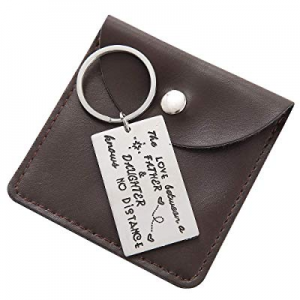 One Day Only!Gifts for Dad Keychain - Engraved Keychain Fathers Day Birthday Jewelry Gifts now 45.0%