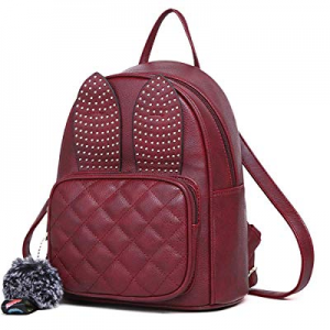 One Day Only!Girls Rabbit Ear Cute Mini Leather Backpack, XB Small Backpack Purse for Women Fashion