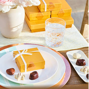 15% off select party favors of $200+ @ Godiva