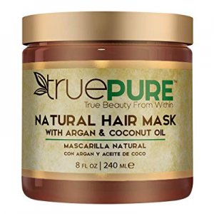 TruePure Natural Hair Mask With Argan Oil now 25.0% off , Coconut Oil, Jojoba & Saw Palmetto | Deep