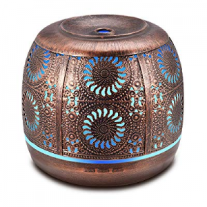 Metal Diffusers for Essential Oils now 40.0% off , 500ml Large Aromatherapy Diffuser Red Bronze, Ult