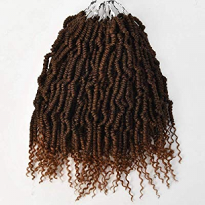 14inch Bomb Twist Crochet Braids Pre Looped Spring Twist Curly Ends Fluffy Hair Extensions(14inch no