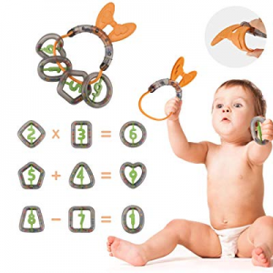 TUMAMA Baby Rattles Toys now 60.0% off , Infant Teether Rattle Set Numbers Type with Shaking Sound E