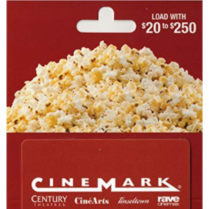 Cinemark Theatres, TGI Friday's Gift Card Sale @Amazon