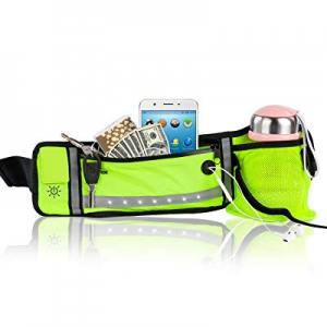 One Day Only!NAVESTAR Adjustable LED Light Running Belt now 50.0% off , Fashion Waist Pack with Ea..