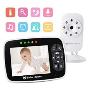 "Video Baby Monitor 3.5"" Large LCD Screen Display with Night Vision Camera now 30.0% off , Two Way .."