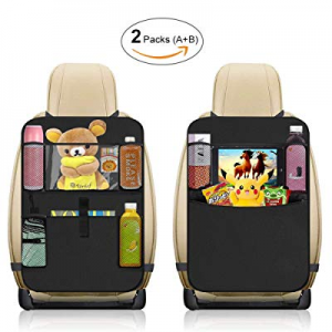 Car Kick Mat now 65.0% off , Car Back Seat Organizer, Car Seat Back Protector with Tablet Holder, ..