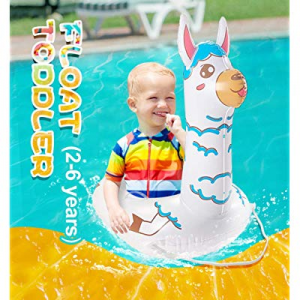 TRSCIND Inflatable Toddler Pool Float now 50.0% off ,Llama Alpaca Floaties for Kids Summer Fun Bab..