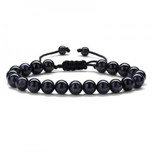 Gifts for Men Bracelet Lava Rock - 8mm Tiger Eye Lava Rock Stone Mens Anxiety Healing Bracelet now..