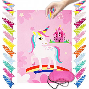 Pin The Horn on The Unicorn Party Game Birthday Party Favor Games Unicorn Party Supplies Kids Part..