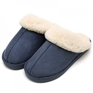 59.0% off SOSUSHOE Womens Slippers Fur Slippers Ladies House Bedroom Shoes with Anti-Slip Sole for..