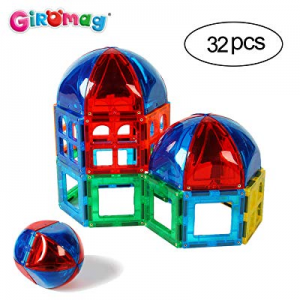 One Day Only!Giromag Magnetic Blocks Construction Film now 60.0% off ,Building Toys Age 3+,Magnet ..