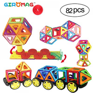 One Day Only!Giromag Magnetic Blocks Toys-82Pcs now 70.0% off ,STEM Building Block Magnet Tiles Mo..