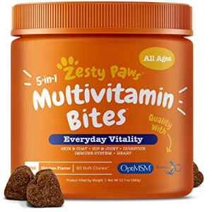 10.0% off Zesty Paws Multivitamin for Dogs - Glucosamine & Chondroitin + MSM for Hip & Joint + Art..