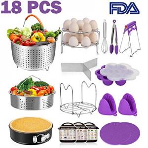 18 Pcs Instant Pot Accessories Set Pressure Cooker Accessories Set Suit for 6 now 60.0% off , 8 Qt..