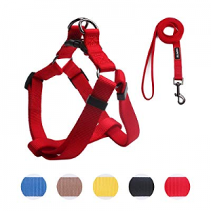 35.0% off QQPETS Dog Harness Set Adjustable Durable Harnesses Matching Heavy Duty Leash for Small ..