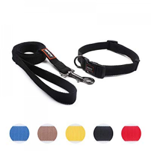 QQPETS Puppy Collar and Leash Set Dog Collars for Small Medium Big Dogs now 35.0% off , Adjustable..