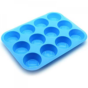 Silicone Cupcake Pan 12-Cavity Non-stick Muffin Baking Mold now 40.0% off , Food Grade, Dishwasher..
