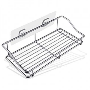 Shower Caddy Bathroom Shelf Organizer Storage Wall Mounted SUS304 Stainless Steel Traceless Adhesi..