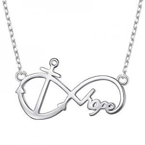 50.0% off S925 Sterling Silver Faith Hope Love Cross Lifeline Heart Pendant Necklace Bracelet Chri..
