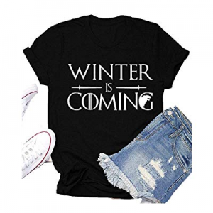 Winter is Coming Game Thrones T-Shirt Women GOT Thrones TV Show Shirt Funny Graphic Tees Tops now ..