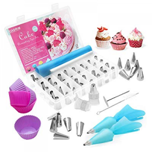 Cadrim 70 Pieces Cake Decorating Tips with 48 Russian Piping Dispensers now 42.0% off , 12 Pastry ..